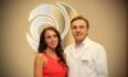 Александр Грудько со своей пациенткой - победительницей бесплатного увеличения груди