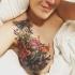 Эффектная татуировка скрыла все дефекты груди